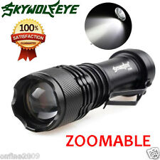 Super Bright CREE Q5 5000LM 3 Modes ZOOMABLE AA LED Torch Flashlight Torch UK