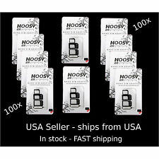 100 X iPhone &  Tablet Apple Samsung  NOOSY 3 Nano  &Micro SIM Card Adapter kit