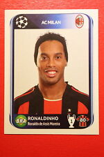 PANINI CHAMPIONS LEAGUE 2010/11 # 425 AC MILAN RONALDINHO BLACK BACK MINT!
