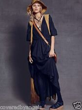 Free People India S Solid Oasis Dress Maxi Greek Black Cotton Witch Cloak Spell