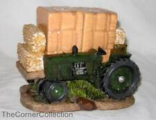 FARM TRACTOR with HAY BALES SALT & PEPPER SET