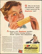 1945-Deepfreeze`Art Freezer Corn`Appliances`Detroit, Michigan-Vintage Ad