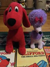 Lot of  23 CLIFFORD THE BIG RED DOG Story Books W/Clifford & Cleo Plush
