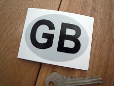GB Motorcycle ID Plate Style HIGHLY REFLECTIVE Sticker 75mm Bike Scooter Moped