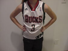 SWEET Brandon Jennings Milwaukee Bucks Youth Sm Adidas White Jersey, NEW&NICE!!