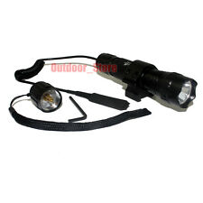 UltraFire WF-501B CREE XM-L T6 LED 1Mode Tactical Flashlight Torch + Mount Set