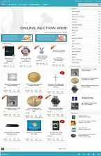 COMPLETE INTERNET AUCTION WEBSITE FOR SALE-with 130 LISTINGS & RESPONSIVE DESIGN