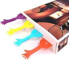 NEU 4XSTK Hand Form Kunststoff Lesezeichen Buch-Markierung Kunststoff Bookmarks