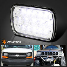 7x6 15-LED Cree Light Bulbs Clear Lens Sealed Beam Headlight Head Lamp