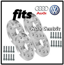 4 Pc 10mm Hub Centric Wheel Spacers Audi Volkswagen 5x100 5x112 10 Ball Bolts