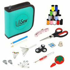 LiLiSew Hand Sewing Kit Compact with Notions,Supplies, Accessories for Beginners