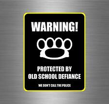 Sticker car motorcycle helmet decal chopper warning biker brass knuckles