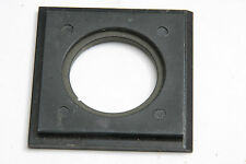 "2 1/2"" Square Lens Board - Flat - 34mm Hole - Hard Plastic - USED V115"