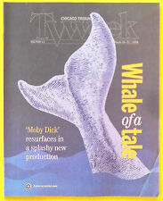 Patrick Stewart Gregory Peck MOBY DICK Chicago Tribune TV Week guide Mar 15 1998