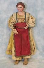 """Early 14"""" Neapolitan Creche Circa 1800s Village woman Original Clothes Nice Cond"""