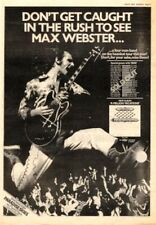 MAX WEBSTER A Million Vacations 1979 UK Poster size Press ADVERT 16x12""