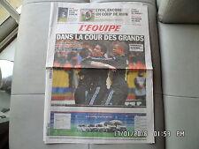 L'EQUIPE DU 24 NOVEMBRE 2010 OM MARSEILLE PORICAL  J51