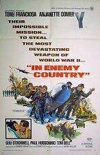 IN ENEMY COUNTRY 1968 Tony Franciosa, Guy Stockwell US 1-SHEET POSTER