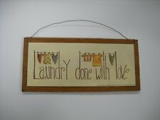 Laundry Done with Love Country Wooden Wall Art Sign