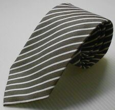 NEW $145 Paul Smith Collection Brown with White Stripes MADE IN ITALY