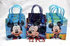 12 PCS Disney Mickey Mouse Candy Bags Party Favors Gift Goody Bags