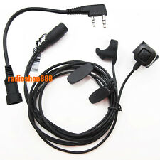 Ear Bone Vibration  earpiece mic mini-din finger PTT PX-777 TG-UV2 FD-880 TH-F8