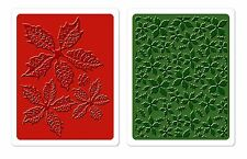 Sizzix Poinsettia Pattern Emboss 2-pk set #658270 Retail $10.99 Tim Holtz Alter.
