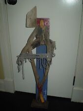 MICHAEL BANKS MODERN FOLK ART 3d SCULPTURE ABSTRACT ANGEL WOOD bondage