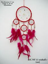 NEW HANDMADE NATIVE AMERICAN INDIAN STYLE DREAM CATCHER RED / dcny11trishellred