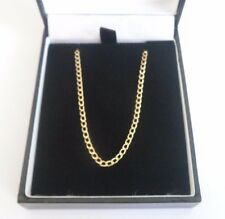 """OVAL link CURB style chain necklace 2mm 18"""" 9 carat yellow gold"""