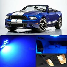 9Pcs Blue LED Lights Interior Lamp Package Kit For 2010-2014 Ford Mustang MP