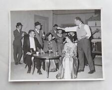 1960s B/W Photograph. Amateur Dramatic Actors. Victorian Costume. Drama/ Play
