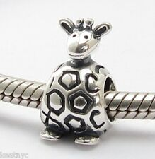 HAPPY GIRAFFE SAFARI CHARM Bead Sterling Silver .925 For European Bracelet 703