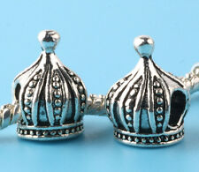 2pc Tibetan silver Imperial crown Spacer beads fit European Bracelet Chain #L189