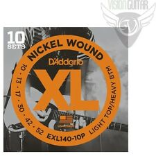 D'ADDARIO EXL140-10P Guitar Strings 10-52 (10-Pack) Nickel Wound