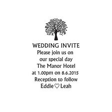 Wedding invite stamp, wedding invitation DIY wedding custom tree