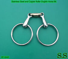 Stainless Steel and Copper Roller English Horse Bit,BT-0045