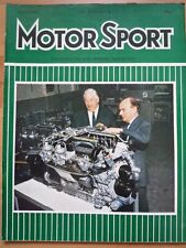 MOTOR SPORT APR 1971 New Jaguar V12 Opel Manta Rallye Saab Kyalami South Africa