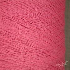Bubblegum Rosa Puro Cotone Crochet Maglieria Filato 500g CONO 10 BALL 3 Ply FUCSIA