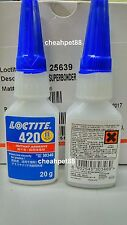 Loctite 420 Super Bonder Instant Adhesive, 20g Bottle, Clear - Free Shipping USA