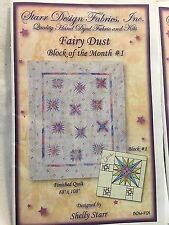 Lot of 12 Starr Designs Fairy Dust Block of the Month Finished Quilt 88 X 108