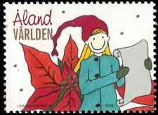 "ALAND ISLANDS 295 - Christmas ""Woman with Scroll"" (pa84275)"
