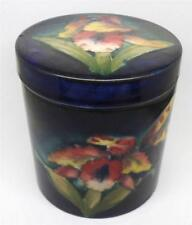 Vintage William Moorcroft et bijou pot Orchid Design sur bleu