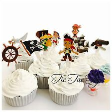 10 X Jake And The Neverland Pirates cupcake TOPPER. Food Party Supplies