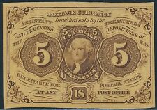 Fr1230 1St Issue 5¢ Fractional Currency Br3287