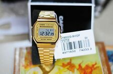 A-168WG-9W Gold Original Casio Digital Watch A168WG