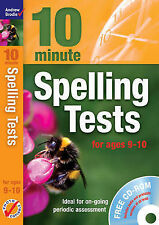 NEW BOOK with CD - 10 minute SPELLING TESTS for ages 9-10 (rrp £20)