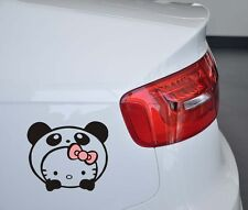 Fun car decal/sticker of cute Panda Hello Kitty for Car /Window (Black)