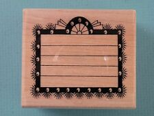 Marquee Sign w/Lines POSH IMPRESSIONS Rubber Stamp Add Your Own Message