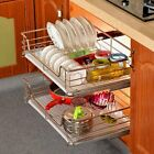 Kitchen Pantry Pull Out Sliding Shelf Basket Drawer Storage Cabinet Organiser US